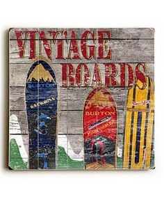 Love this Vintage Boards Wall Art by ArteHouse on #zulily! #zulilyfinds