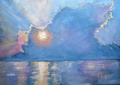 "Morning Light Over the Sea by Carol Schiff | $250 | 14""w x 11""h | Original Art | http://www.vangoart.co/carolschiffstudio/morning-light-over-the-sea @VangoArt"