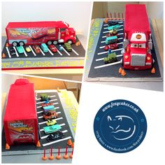 Cars cake, made by The Foxy Cake Co!