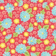 Summerfest  Floral Planter in Fruit Punch by by LilyRoseQuilts