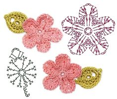 No.25 Peach Blossom Crochet Flower Motifs / 복숭아꽃 코바늘 플라워 모티브도안