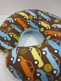 """Alexander Henry """"bumper to bumper"""" fabric is adorable with the pale blue minky"""