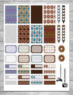 Free Doughnut Themed Planner Printable