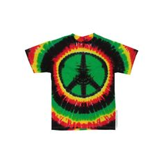 Rasta Peace Tie Dye T Shirt on Sale for $17.95 at The Hippie Shop ($18) ❤ liked on Polyvore featuring tops, t-shirts, shirts, tie dye t shirts, green shirt, long length t shirts, green tie dye shirt and tie dyed shirts