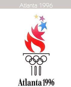 1996 Atlanta Olympics Primary Logo on Chris Creamer's Sports Logos Page - SportsLogos. A virtual museum of sports logos, uniforms and historical items.