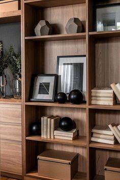 Romklao interior shooting on behance pallet shelves, wood shelves, shelving, dini Home Interior, Interior Styling, Interior Design, Shelf Design, Cabinet Design, Home Office Design, House Design, Modern Furniture, Furniture Design
