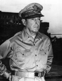Douglas MacArthur General of the army Army United States Recalled from retirement prior to the start of the Pacific war. Early on in World War II, received the Medal of Honor for extreme bravery. Was disappointed to relinquish the Philippines to the Japanese. Promising to return, he did so in 1945 and whilst in Manila, prepared for war in Japan itself. MacArthur presided over the Japanese Unconditional Surrender in 1945