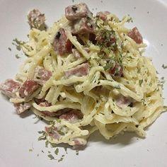Creamy Pesto #SausageMadness #Frankfurter #MadAboutGarlic #Pesto #Basil #Cream #Capellini #HomeCookedMeal #CookingIs❤️ #NoFilter