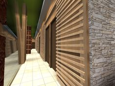 Soothing Spot Spa Interior Design. Passage
