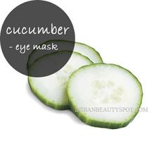 Natural cooling eye mask for dark circles and puffy eyes  - #homeremedy