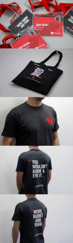 different t-shirt branding. Identity Design, Brand Identity, Conference Branding, Printed Portfolio, Event Branding, Web Design Inspiration, Design Quotes, Branded T Shirts, Mockup