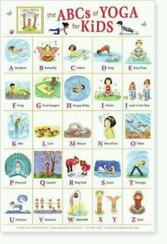 Kids yoga poster. Need this for our homeschooling room!