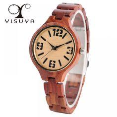 Creative Trendy Red Sandalwood Wrist Watch Ladies Fashion Full Wood Wooden Bracelet Watches Women Girl Gift  Price: 566.89 & FREE Shipping  #fashion|#sport|#tech|#lifestyle