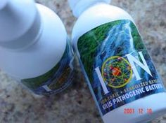 Ion Drops for your health and safety - also purifies water in a emergency.