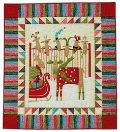 I think #reindeer on #quilts are so cute! | Free Christmas Quilt ... : crazy eight quilt pattern free - Adamdwight.com
