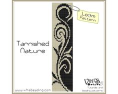 Loom Bracelet Pattern: Tarnished Nature - INSTANT DOWNLOAD pdf - Buy 2 Get 1 free with coupon codes - bl112 by VikisBeadingPatterns on Etsy https://www.etsy.com/listing/126887884/loom-bracelet-pattern-tarnished-nature
