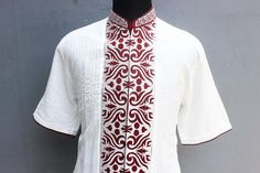 Full Embroidery Handmade Mens Kaftan Shirt Dress Vintage Tunic Shirt  This Shirt is currently available / ready in stock, will ship 1-2 days after order!