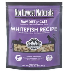 Northwest Naturals Northwest Naturals Cat WhiteFish Raw Frozen Nib 2 Lb (*Frozen Products for Local Delivery or In-Store Pickup Only. Raw Pet Food, Natural Pet Food, Cat Food, Psyllium Husk Powder, Cat Diet, Cat Nutrition, Fresh Meat, Whitefish, Vitamins And Minerals