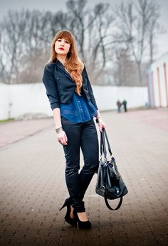 Navy blue  #fashion #style #outfit