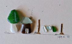 """""""Landscape"""" pebble art by Hara"""