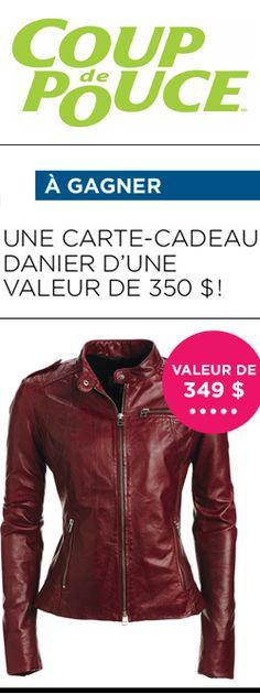 Gagnez une carte-cadeau Danier de 350 $. Fin le 3 octobre.  http://rienquedugratuit.ca/concours/carte-cadeau-danier-de-350/