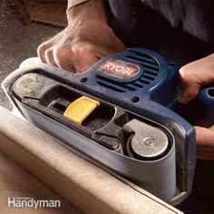 Tips to use your belt sander more effectively and more safely, as well as how to buy a belt sander and what belts work best. It's a great labor-saving tool.