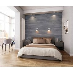 NaturaPlank Peel and Stick Real Wood Wall Panels with 3M Adheisive Tape, Warm Grey