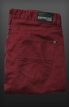 Rocco Slim Fit Skinny Leg Jean - Maroon!!!! If my throated pair don't work out!