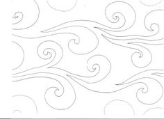 Kathie James Wind Water Pantograph   This would make a great stencil to stitch along a quilt or any fabric for design.