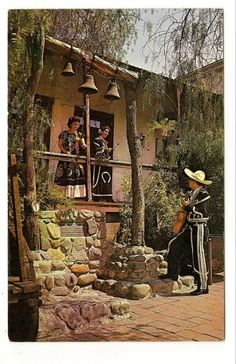 Los Angeles CA Avila Adobe Olvera Street Vtg Postcard | eBay  -- I always wanted to live in this Hacienda, ever since I was little and they first took me there on a tour.