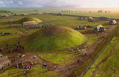 The Royal Court of Jelling in Viking Denmark by Franziska Lorenz and Jochen Stuhrmann