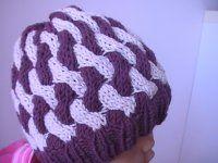 Pletená čepice z dvoubarevných copánků Mittens, Crochet Hats, Beanie, Knitting, Cowls, Children, Fashion, Tutorials, Fingerless Mitts