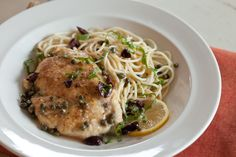 Chicken Scaloppine with Capers, Olives, Basil