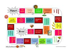 Idea for making conversation board games. French Teaching Resources, Teaching French, Core French, French Class, Class Games, Teaching Schools, School Plan, Language, Classroom
