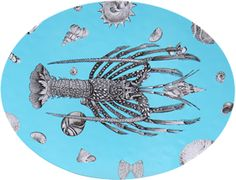 Carol Fertig's blue-lobster-plate from NYC -- nineteen-inch oval platter, only $40. Sign up for her daily Object Lesson, delights for the eye ranging from prehistoric, Greek, Roman, Indian to 1920s Moscow, et. al. What a pleasure!