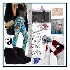 """O"" by stylishbysamantha ❤ liked on Polyvore featuring Versace, Sophia Webster, Kasun, Steve Madden, AFA Amino Acid Skin Care, Phase Eight, Oscar de la Renta and Polaroid"