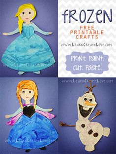 Juegos para una Fiesta de cumpleaños Frozen que puedes descargar gratis para crear y colorear personajes de la película.