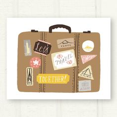 Lets Travel Together illustration from This Paper Shop