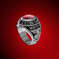 Made in the USA - Licensed by the US Marine Corps and available at:  http://www.marinecorpsrings.com/sterling-silver-marine-corps-ring-with-stone-p-221.html #jewelry #jewels #jewel #socialenvy #PleaseForgiveMe #fashion #gems #gem #gemstone #bling #stones #stone #trendy #accessories #love #crystals #beautiful #ootd #style #fashionista #accessory #instajewelry #stylish #cute #jewelrygram #fashionjewelry