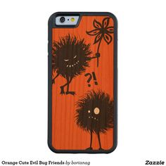 Orange Cute Evil Bug Friends Carved® Cherry iPhone 6 Bumper Case