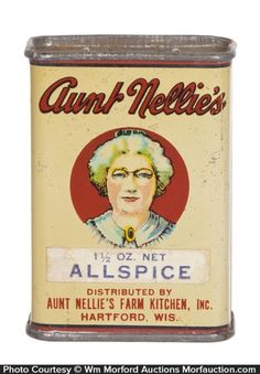 Vintage Tins, Vintage Labels, Vintage Kitchen, Tin Can Alley, Spice Tins, Spice Containers, Vintage Packaging, Vintage Advertisements, Advertising Ads