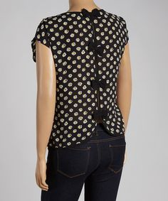 This Black & Yellow Floral Scoop Neck Blouse - Plus by Mine Too is perfect! #zulilyfinds