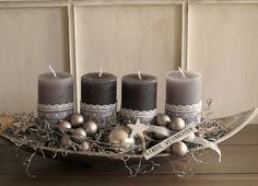 Big Advent Wreath Candles, Christmas Advent Wreath, Christmas Mood, Christmas Candles, Christmas Crafts, Christmas Decorations, Fun Activities For Kids, Candle Making, Homemade Gifts