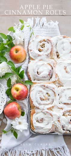 The perfect welcome to Fall- Apple Pie Cinnamon Rolls- are festive, delicious, and easy to make. It will be your favorite Autumn breakfast recipe!