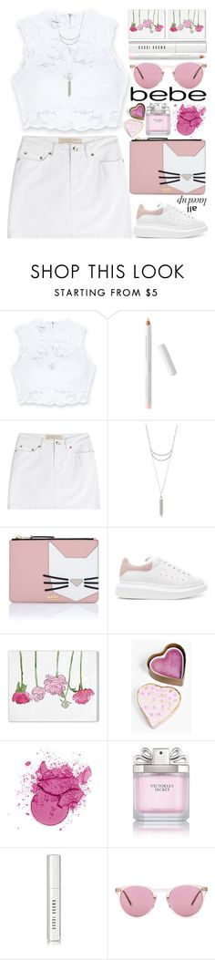 """""""All Laced Up for Spring with bebe: Contest Entry"""" by grozdana-v on Polyvore featuring Bebe, Marc by Marc Jacobs, Charlotte Russe, Karl Lagerfeld, Alexander McQueen, Oliver Gal Artist Co., Boohoo, Victoria's Secret, Bobbi Brown Cosmetics and Oliver Peoples"""