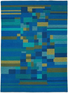 Swedish Flat Weave Rug Signed AB - Scandinavian Rug - Vintage Rug - BB5383 by Doris Leslie Blau