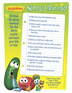 It's time for spring cleaning! #veggietales #Spring Cleaning #Cleaning Checklist