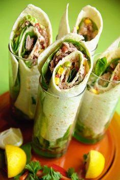 tuna salad wraps- Keep this recipe for tuna melts and wraps and tuna salads Fish Recipes, Seafood Recipes, Cooking Recipes, Healthy Recipes, Healthy Wraps, Lunch Box Bento, Tuna Wrap, Salad Wraps, Tuna Salad