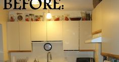 So, my husband and I had a little problem with our kitchen cupboards. We didn't like them. They were kinda really ugly, plus a few of the...