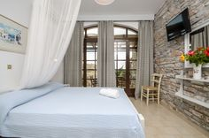 Victoria Studios and Apartments in Naxos, Mikri Vigla Studio Apartment, Pavilion, Traditional, Bed, Building, Room, Furniture, Home Decor, Homemade Home Decor